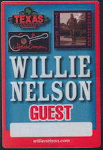 ##MUSICBP0101  - Willie Nelson Nacogdoches Tour Backstage Pass - As low as 75¢ each