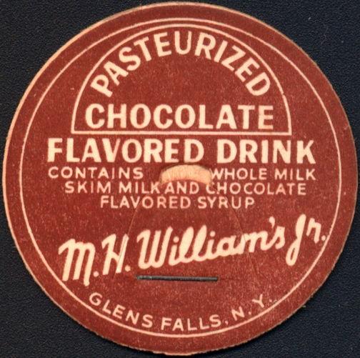 #DC193 - M. H. WIlliam's Jr. Pasteurized Chocolate Milk Bottle Cap