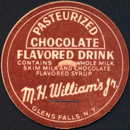 #DC193 - M. H. WIlliam's Jr. Pasteurized Chocolate Milk Bottle Cap