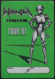 ##MUSICBP0204 - Winger OTTO Backstage Pass from the 1991 In the Heart of the Young Tour