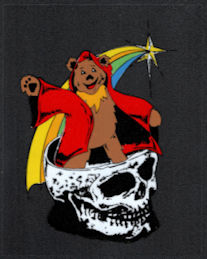 ##MUSICBP2017 - Grateful Dead Car Window Tour Sticker/Decal - Wizard Bear in a Skull
