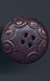 #BEADS0739 - Very Old Embossed and Painted German Wooden Button - As low as 30¢