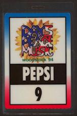 ##MUSICBP0048  - 1994 Woodstock Festival Laminate Backstage Pepsi Pass