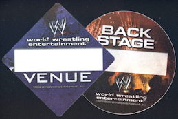 #BA721 - Cloth OTTO Backstage Pass for the 2002 World Wrestling Federation (WWF) - As low as 75¢ each