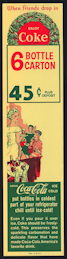 #CC319 - Coca Cola Christmas Carton Insert with Wreath Pictured - As low as 75¢ each