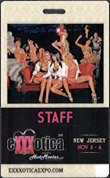 ##MUSICBP0877 - Staff Pass/Credential for 2011 Exxxotica Event