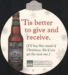 #SP084 - Great Lakes Christmas Ale Coaster Ornament