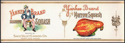 #ZLCA298 - Super Rare Yankee Brand Marrow Squash Can Label - Large Image of Uncle Sam