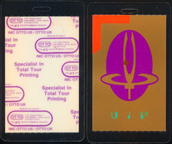 ##MUSICBP0445 - 1987 Yes Laminated OTTO VIP Backstage Pass from the Big Generator Tour