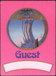 ##MUSICBP0526 - YES Cloth OTTO Guest Backstage Pass from the 1991 Union Tour