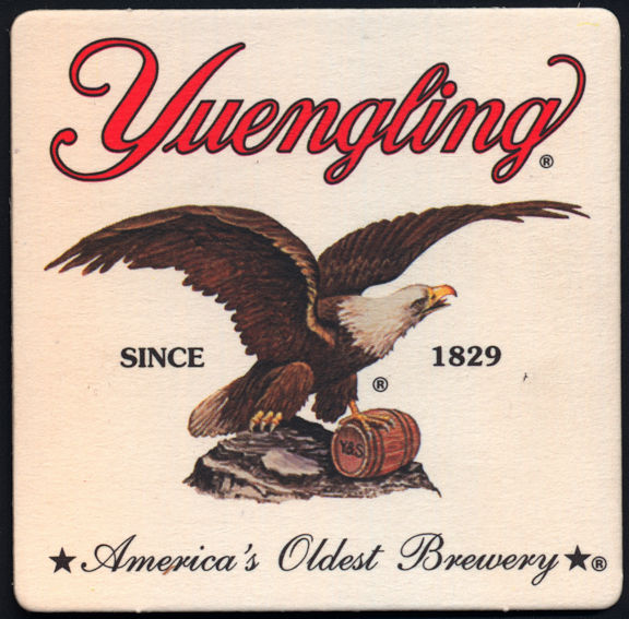 #SP054 - Yuengling Beer Coaster with Eagle - As low as 18¢ each