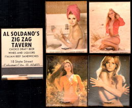 #PINUP057 - Four Different Pinup Matchbooks from the Zig Zag Tavern - Mob