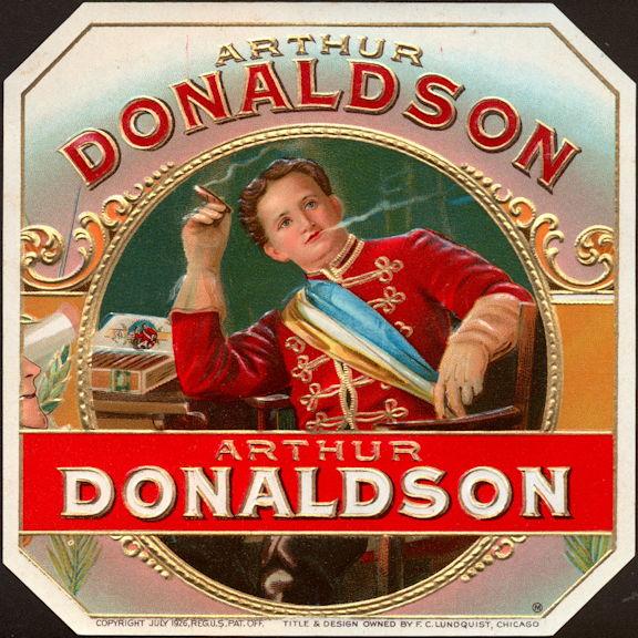 #ZLSC104 - Arthur Donaldson Outer Cigar Box Label