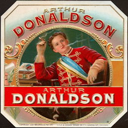 #ZLSC104 - Arthur Donaldson Outer Cigar Box Label
