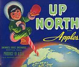 #ZLC003 - Up North Eskimo Apple Crate Label