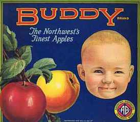 #ZLC010 - Buddy Apple Crate Label