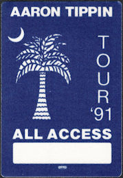 ##MUSICBP0117 - Aaron Tipin OTTO Cloth Backstage Pass from the 1991 You've Got to Stand for Something Tour