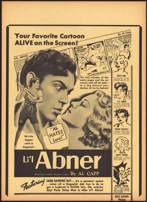 #CH326-02  - Rare 1940 Li'l Abner Movie Poster Broadside Picturing the Comic Strip