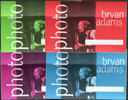 ##MUSICBP0286 - Group of 4 Huge Oversized Bryan Adams OTTO Cloth Backstage Photo Passes from the 1996 Til I Die Tour