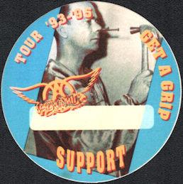 ##MUSICBP0216  - Round 1993 Aerosmith Get a Grip Tour OTTO Cloth Support Backstage Pass