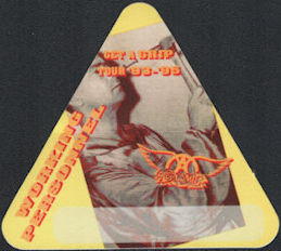 ##MUSICBP0722  - Aerosmith OTTO Cloth Backstage Pass from the 1993-1995 Get a Grip Tour