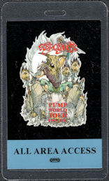 ##MUSICBP0068 - 1989 Aerosmith OTTO ALL Area Access Laminated Backstage Pass from the Pump World Tour - Graveyard