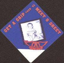 ##MUSICBP0012 - Diamond 1993 Aerosmith Get a Grip Tour OTTO Backstage Pass - Baby