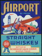 #ZLW065 - Airport Whiskey Label
