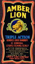 #ZBOT052 - Amber Lion Hair Treatment Bottle Label