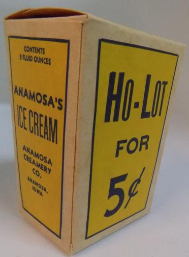 #DA063 - Anamosa Ho-Lot Ice Cream Box