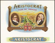 #ZLSC065 - Aristocrat Flor De Tabacos Cigar Box Label