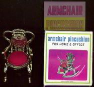 #MS123 - Armchair Pincushion in Illustrated Box