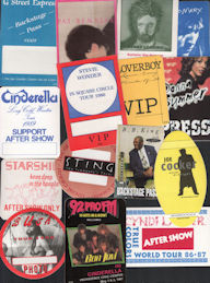 ##MUSICBP0629 - Special Deal #7 - 15 Different 1980s and 90s Cloth Backstage Passes from Well Known Music Groups
