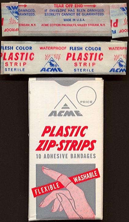 #CS407 - Full Box of Ten 1950s Acme Bandages
