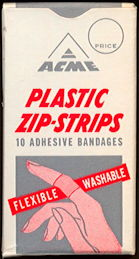 #CS407 - Full Box of Ten 1950s Acme Bandages