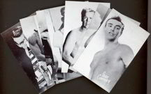 #ZZA118 - Unusual Bare Chested Male Star Exhibit Supply Card Set