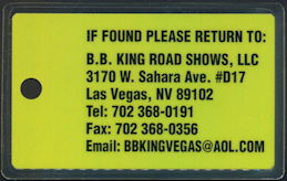 ##MUSICBP0442 - B. B. King Luggage Tag