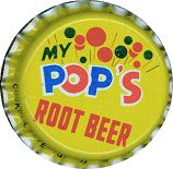 #BC027 - Group of 10 My Pop's Root Beer Soda Caps