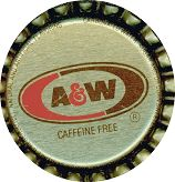 #BC045  - Group of 10 A & W Root Beer Soda Caps