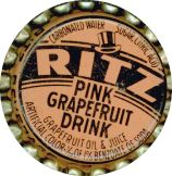 #BC080  - Group of 10 Ritz Cork Lined Pink Grapefruit Drink Soda Cap