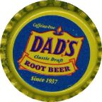 #BC038  - Group of 10 Fancy Dad's Classic Draft Root Beer Caps