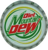 #BC046 - Group of 10 Diet Mountain Dew Plastic Lined Soda Caps