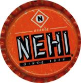 #BC041 - Group of 10 Nehi Orange Plastic Lined Soda Caps