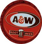 #BC044 - Group of 10 A and W caps picturing Mug of Root Beer