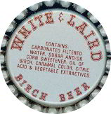 #BC132 - Group of 10 White & Laird BIrch Beer Soda Bottle Caps