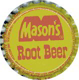 #BC123 - Group of 10 Masons's Root Beer Soda Bottle Caps