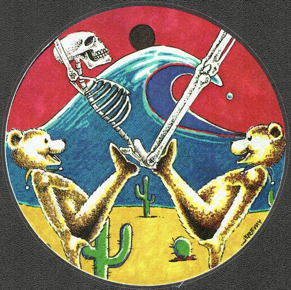 ##MUSICBP2035 - Grateful Dead Car Window Tour Sticker/Decal - Grateful Dead Bears Juggling a Skeleton