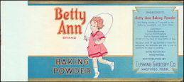 #ZLCA149 - Uncommon Betty Ann Baking Powder Canister Label