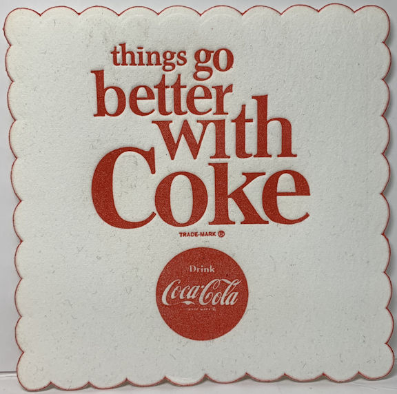 #CC196 - Group of 12 Things Go Better with Coke Coasters