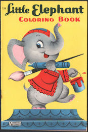 #TY775 - Rare Big Little Coloring Book - Little Elephant